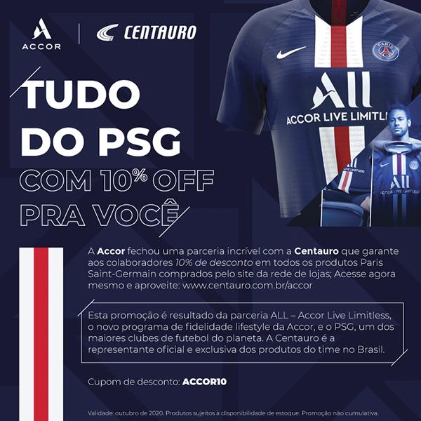 Accor x Centauro - Tudo do PSG.